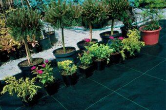 Tkaniny ogrodnicze; folie ogrodowe